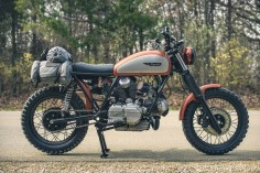 If Ducati hadn't dropped the Scrambler line back in the 1970s, this the bike they might have built—a custom based on the 860 GT engine.