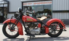 If I were to ride, it'd only be an  1937 Indian Motorcycle.