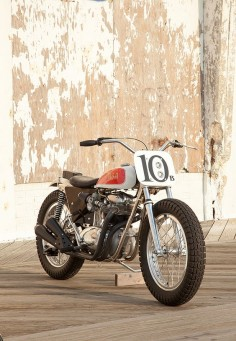 If there's a growing trend in custom motorcycles today, it's towards street trackers: road-legal versions of the flat track bikes that raced in the 1960s and 1970s. With small tanks, wide bars and fat tires, they're good-looking bikes stripped down to the essentials. Machines like this lovely BSA Trackmaster
