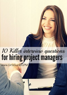 If you're recruiting for a project team member, check out these great questions to ask at interview. And if you are planning to go for a job involving project work, prepare to answer these!