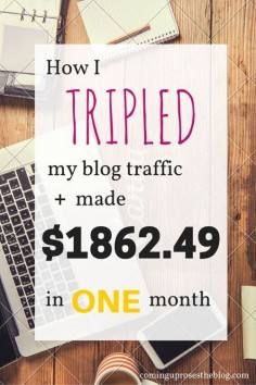 Income Report September - how I tripled my blog traffic and made $ in one month