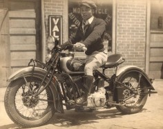 Indian Motorcycle Rider - Unidentified Photographer  [Unidentified Man on a Motorcycle], ca. 1936  Collection of the International Center of Photography