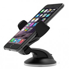 iOttie Easy Flex 3 Car Mount Holder for iPhone 6s 5s 5c, Samsung Galaxy S6 Edge Plus S6 S5 S4 - Retail Packaging - Black