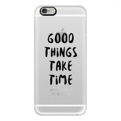 iPhone 6 Plus/6/5/5s/5c Case - Good Things Take Time (Black) ($40) ❤ liked on Polyvore featuring accessories, tech accessories, phone, phone cases, fillers, cases, iphone cases, iphone 6 case, iphone 5 cover case and apple iphone cases