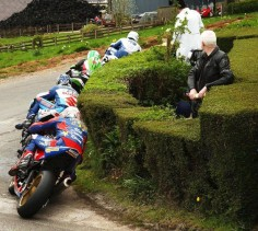Isle of Man TT trimming the bushes
