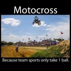 Isso é motocross!