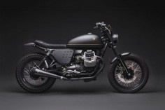 Italian American style: Moto Guzzi V7 by Venier Customs of NYC.