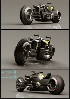 Ixlrlxi is a Russian concept artist who likes to model retro-futuristic-looking vehicles in SketchUp and render them with VRay.