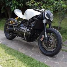 K100 by white collar bike