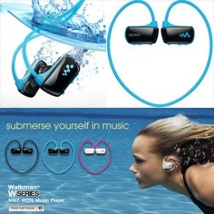@Kaitlin Hohnholt we need these for next summer. We are really going to work out hard at the pool!! Sony Underwater Walkman