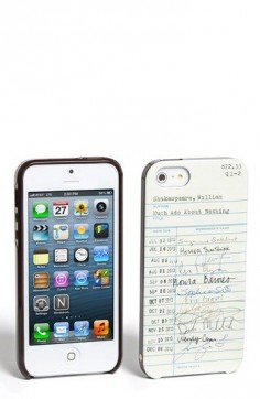 kate spade new york 'library card' iPhone 5 case | Nordstrom