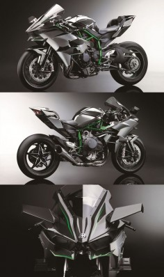 Kawasaki Ninja H2R - With 300hp from a supercharged engine, it's so fast it needs wings.