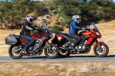 Kawasaki Versys 1000 LT and Yamaha FJ-09 on-road action