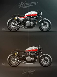 Kawasaki Zephyr 1100 Cafe Racer design by Himora #motorcyclesdesign #diseñodemotos |