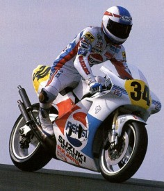 Kevin Schwantz - Truly loved to watch this guy race during the 500cc GP days. suzuki rgv 500 '89