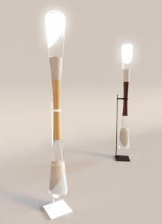Kinetic Energy Hourglass Lamps Powered By Sand