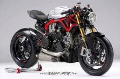 Krax-moto-com reinterprets the Pierobon frame kit into a Panigale Streetfighter concept