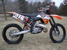 KTM 125 SX dirt bike