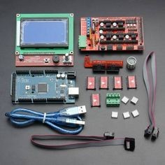 LCD12864 RAMPS  Board 2560 R3 Control Board A4988 Driver Kit For 3D Printer - US$