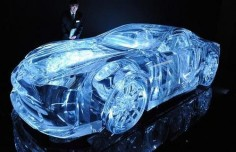 Lexus a transparent car, its actually a real car!!!