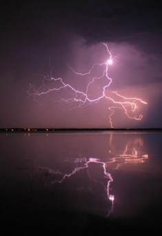Lightning reflections