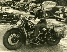Linda Dugeau learned to ride a motorcycle in 1932. In 1938, she began a letter-writing campaign to establish a national network of female motorcyclists who owned and rode their own machines. Thus was born the Motor Maids. In the 1930s, women riders were so rare that it took Linda and Dot Robinson three years to locate the charter members of The Motor Maids. The organization was chartered with the AMA in 1941, making it the oldest motorcycle organization for women in North America.