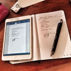 Livescribe 3 Smartpen for Tablets and Smartphones. What It does: Whatever you write on paper is automatically copied onto the screen of your tablets or smartphones in real-time, as you write it.