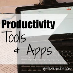 Looking for a to-do app? @Gretchen Louise outlines her favorite apps and shares the best productivity resources for moms and bloggers!