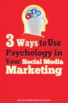 Looking for ways to connect with fans on a deeper level?  Implementing basic psychological marketing principles in your social media activities can help you attract, engage, and form emotional bonds with your target audience.  In this article, youll disc