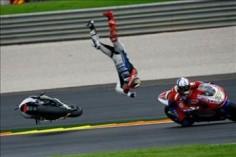 Lorenzo crash, Valencia MotoGP 2012