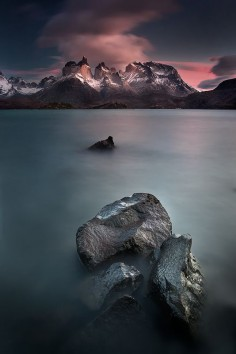 Los Cuernos del Paine, Torres del Paine National Park, Patagonia, Chile.
