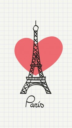 Love Paris. Tap to see more Eiffel Tower Art iPhone wallpapers, backgrounds, fondos! - @mobile9