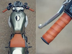 Love the Brooks leather handlebar wraps as motorcycle grips.