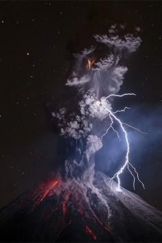 "lsleofskye: ""Colima Volcano, Mexico."