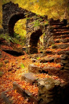 "Madame Sherri's Castle Ruins, New Hampshire - 14 Photos of ""I walked on Paths of Crisp Autumn leaves"""