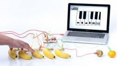 Makey Makey, an invention kit for everyone, is a simple circuit board that lets you reprogram the world by connecting everyday objects to a computer. Rewire the World! Warning: extended use may result in creative confidence.