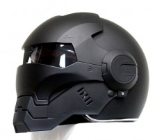 Masei Matt Black Atomic-Man 610 Open Face Motorcycle Helmet Free Shipping for Harley Davidson