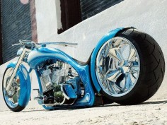 Matt Hotch custom chopper. He builds some of the most beautiful bikes out there.