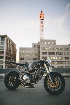 Max Hazan has arrived at the top of the 'motorcycle as art' genre: He's entered the rarified atmosphere occupied by builders like Shinya Kimura, Chicara Nagata and Ian Barry of Falcon Motorcycles. Here's an exclusive look at the latest build from LA-based Hazan Motorworks, a Ducati Monster-powered custom: