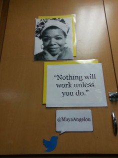 Middle School Classroom Locker Decoration: Inspirational People with Quote Maya Angelou (Technology Twitter Theme)