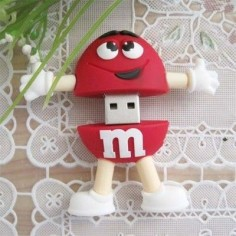 M&m usb drive PVC usb gifts