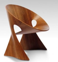Modern decorative wooden chair design unique from germany