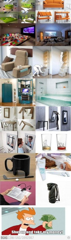 Mostly cool stuff but amused to see our IKEA cupboard on there ;)