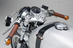 Moto Guzi Le Mans Cafe Racer.  Love the brushed aluminum with black