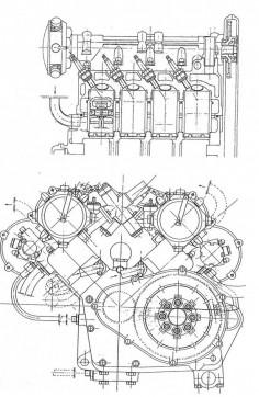 Moto Guzzi 8 Cilindri Engine, 1950