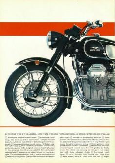 Moto Guzzi Ambassador Factory Brochure, Page 2 of 6.