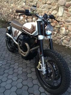 Moto Guzzi Brat Style - Franco Zenatello #motorcycles #bratstyle #motos |
