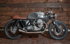 Moto Guzzi Cafe Racer by Fiftyfive Garage #motorcycles #caferacer #motos |