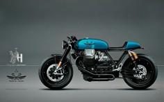 Moto Guzzi Cafe Racer - Holographic Hammer - Radical Guzzi #motorcyclesdesign #diseñodemotos |