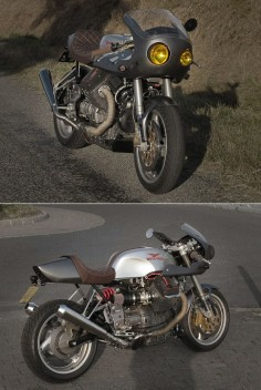 """MOTO GUZZI  Moto Guzzi Café Racer made from a Y2K V10 Centauro. Here in """"MK1"""" version, meaning modifications and improvements to come."""
